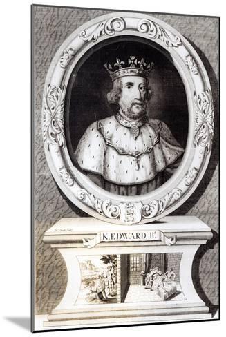 Portrait of King Edward II--Mounted Giclee Print
