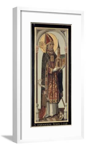 Votive Panel Depicting St. Ansgar, 1457-Hans Bornemann-Framed Art Print