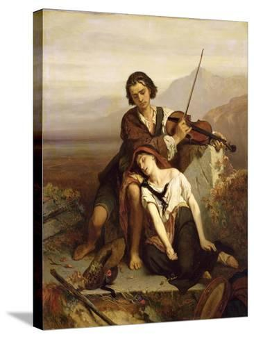 Comfort in Grief, c.1852-Louis Gallait-Stretched Canvas Print