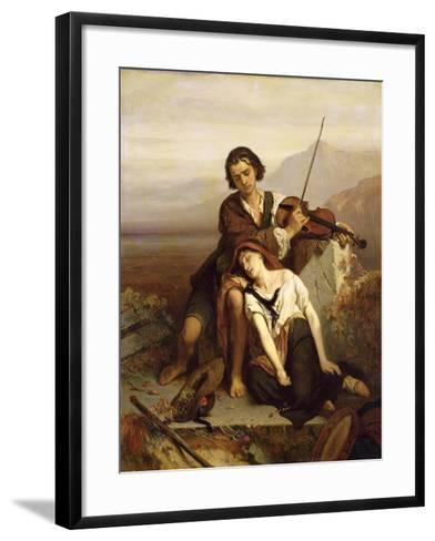 Comfort in Grief, c.1852-Louis Gallait-Framed Art Print