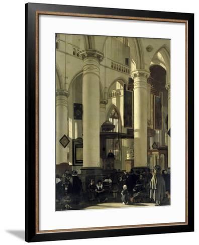 Interior of a Church-Emanuel de Witte-Framed Art Print
