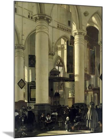 Interior of a Church-Emanuel de Witte-Mounted Giclee Print