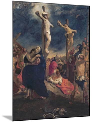 Christ on the Cross, 1835-Eugene Delacroix-Mounted Giclee Print