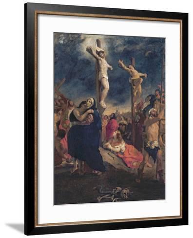 Christ on the Cross, 1835-Eugene Delacroix-Framed Art Print