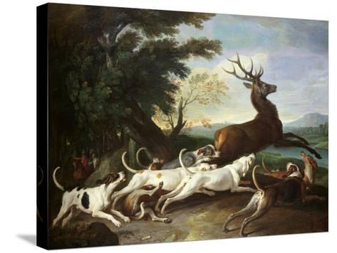 The Deer Hunt, 1718-Alexandre-Francois Desportes-Stretched Canvas Print