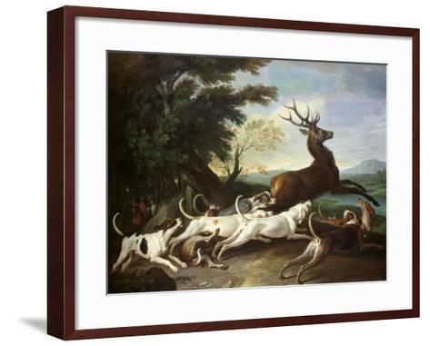 The Deer Hunt, 1718-Alexandre-Francois Desportes-Framed Art Print
