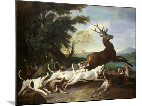 The Deer Hunt, 1718-Alexandre-Francois Desportes-Mounted Giclee Print