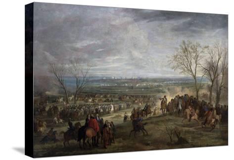 The Siege of Valenciennes, 1677-Adam Frans van der Meulen-Stretched Canvas Print