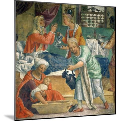 The Birth of the Virgin-Bernardino Luini-Mounted Giclee Print