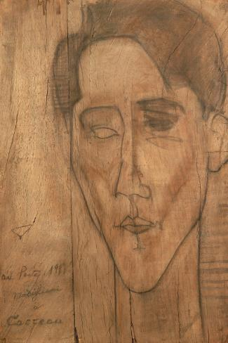 Portrait of Jean Cocteau-Amedeo Modigliani-Stretched Canvas Print