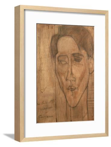 Portrait of Jean Cocteau-Amedeo Modigliani-Framed Art Print