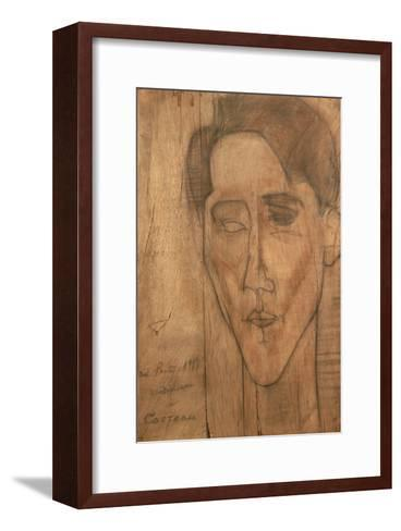 Portrait of Jean Cocteau-Amedeo Modigliani-Framed Art Print