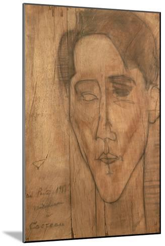 Portrait of Jean Cocteau-Amedeo Modigliani-Mounted Giclee Print