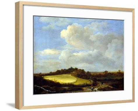 The Wheatfield-Jacob Isaaksz^ Or Isaacksz^ Van Ruisdael-Framed Art Print