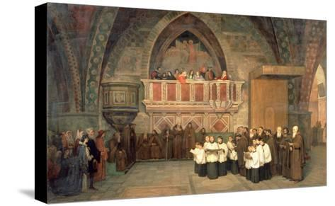 Vespers in the Saint Francis Church in Assisi, 1871-Mikhail Petrovich Botkin-Stretched Canvas Print