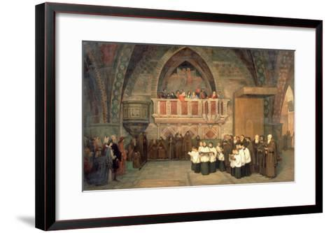 Vespers in the Saint Francis Church in Assisi, 1871-Mikhail Petrovich Botkin-Framed Art Print