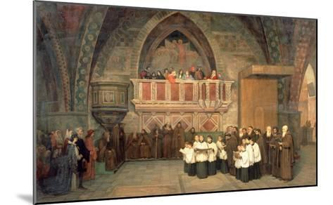 Vespers in the Saint Francis Church in Assisi, 1871-Mikhail Petrovich Botkin-Mounted Giclee Print