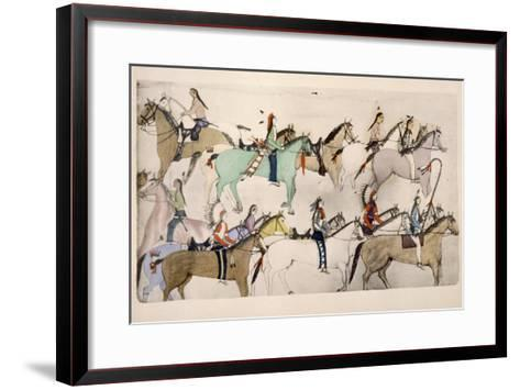End of the Battle- Amos Bad Heart Buffalo-Framed Art Print
