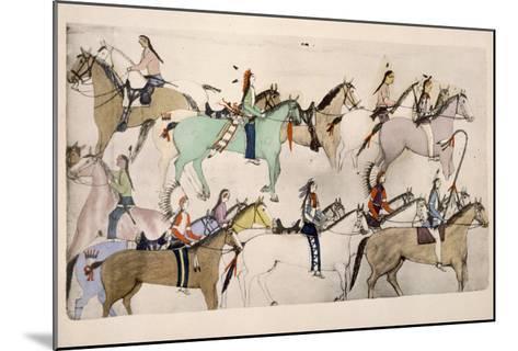 End of the Battle- Amos Bad Heart Buffalo-Mounted Giclee Print