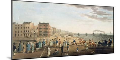 The Chain Pier at Brighton with Characters-G.m. Brighty-Mounted Giclee Print