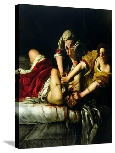 Judith and Holofernes, 1612-21-Artemisia Gentileschi-Stretched Canvas Print