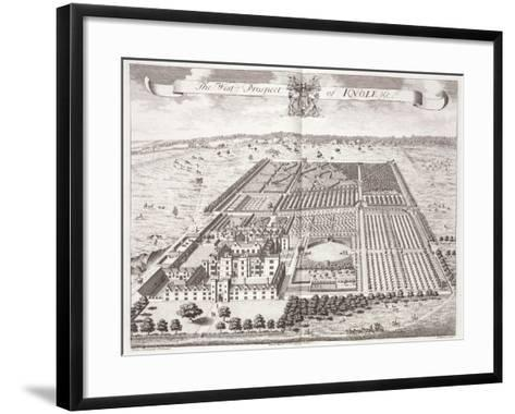 The West Prospect of Knole, Thirty Six Different Views of Noblemen and Gentlemen's Seats-Thomas Badeslade-Framed Art Print