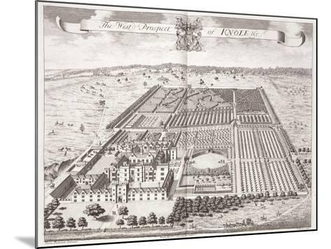 The West Prospect of Knole, Thirty Six Different Views of Noblemen and Gentlemen's Seats-Thomas Badeslade-Mounted Giclee Print