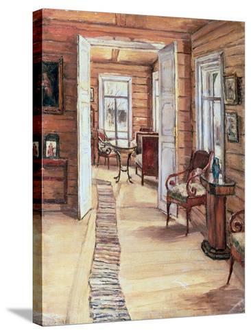 Interior of L. Panteleev's House in Murmanov, 1913-Anna Nikolaeva Karinskaya-Stretched Canvas Print