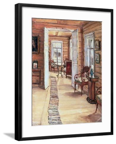 Interior of L. Panteleev's House in Murmanov, 1913-Anna Nikolaeva Karinskaya-Framed Art Print