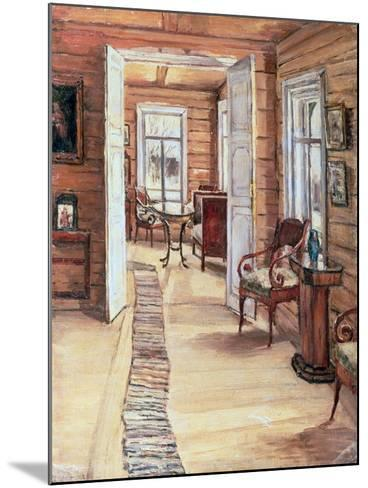 Interior of L. Panteleev's House in Murmanov, 1913-Anna Nikolaeva Karinskaya-Mounted Giclee Print