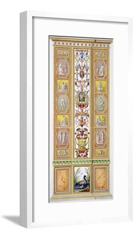 Raphael Loggia at the Vatican, 'Delle Loggie Di Rafaele Nel Vaticano', Engraved Giovanni Volpato-Ludovicus Tesio Taurinensis-Framed Art Print