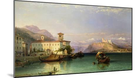 Arona and the Castle of Angera, Lake Maggiore, 1856-George Edwards Hering-Mounted Giclee Print