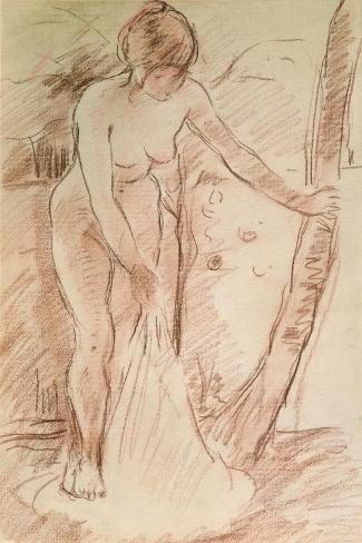 Standing Bather, 1888-Berthe Morisot-Stretched Canvas Print