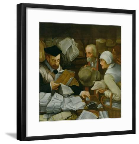 The Tax Collector, 1543-Paul Vos-Framed Art Print