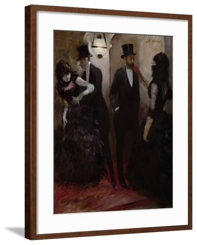 The Corridors at the Opera, 1885-Jean Louis Forain-Framed Art Print