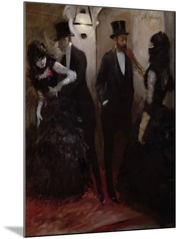 The Corridors at the Opera, 1885-Jean Louis Forain-Mounted Giclee Print