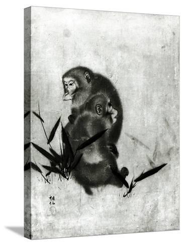Monkeys- Mori Sosen-Stretched Canvas Print