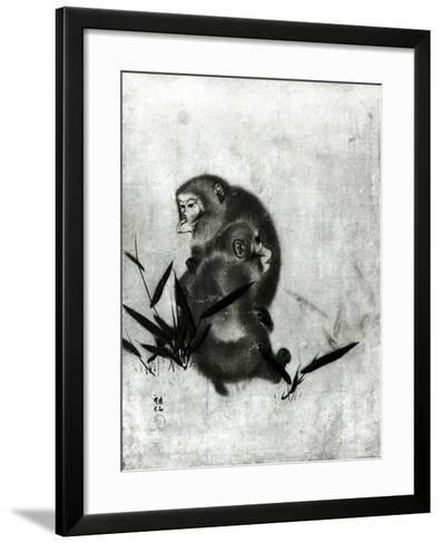 Monkeys- Mori Sosen-Framed Art Print
