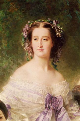 Empress Eugenie-Franz Xaver Winterhalter-Stretched Canvas Print