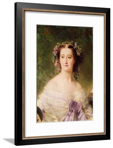 Empress Eugenie-Franz Xaver Winterhalter-Framed Art Print