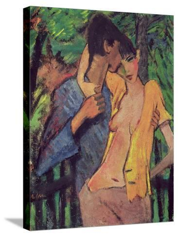 Lovers-Otto Mueller-Stretched Canvas Print