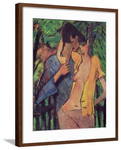 Lovers-Otto Mueller-Framed Art Print