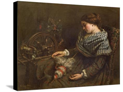 The Sleeping Embroiderer, 1853-Gustave Courbet-Stretched Canvas Print