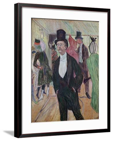 Monsieur Fourcade, 1889-Henri de Toulouse-Lautrec-Framed Art Print