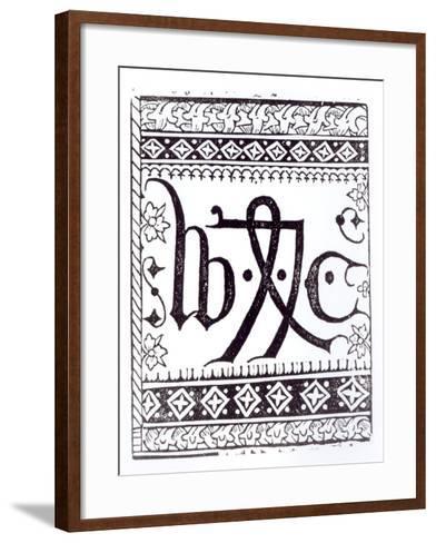 William Caxton's--Framed Art Print