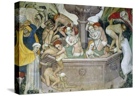 The Fountain of Life, Detail of Bathers in the Fountain, 1418-30-Giacomo Jaquerio-Stretched Canvas Print