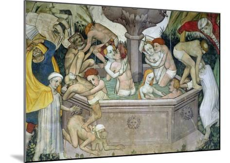 The Fountain of Life, Detail of Bathers in the Fountain, 1418-30-Giacomo Jaquerio-Mounted Giclee Print