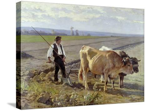 The Furrow, 1897-Edouard Debat-Ponsan-Stretched Canvas Print
