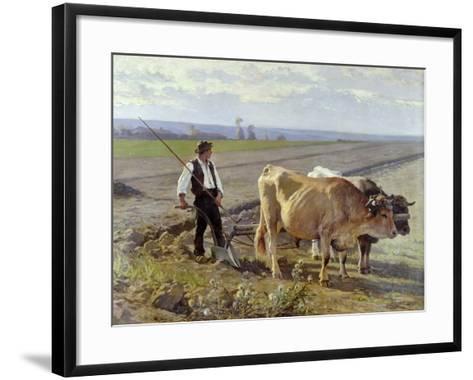 The Furrow, 1897-Edouard Debat-Ponsan-Framed Art Print