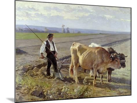 The Furrow, 1897-Edouard Debat-Ponsan-Mounted Giclee Print